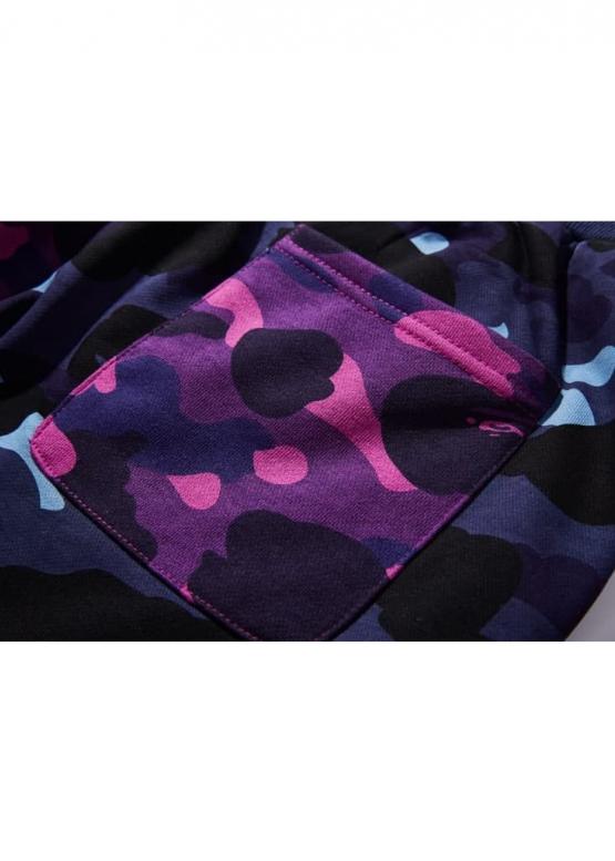 Купить сине-фиолетовые шорты Bape Half Camo в Киеве с доставкой по Украине