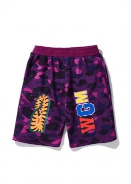 Фиолетовые шорты Bape Camo - CA1115