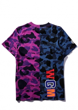 Фиолетовая футболка Bape Half Camo - FA1112