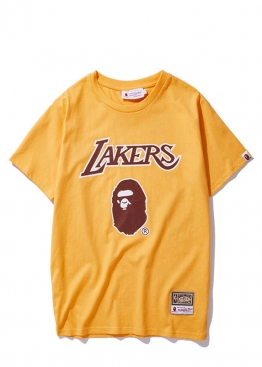Жёлтая футболка Bape x Lakers - FA1117