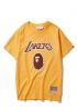 Жёлтая футболка Bape x Lakers - FA1117