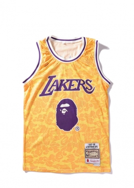 Жёлтая майка Bape x Lakers - FA1119
