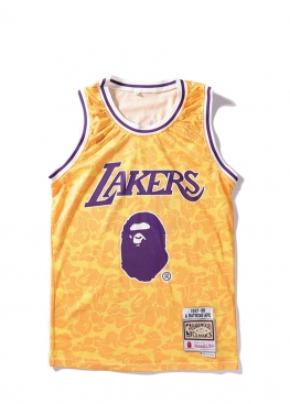 Жёлтая майка Bape x Lakers FA1119
