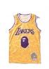 Жёлтая майка Bape x Lakers - FA1119