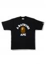 Купить чёрную футболку Bape College Tee Black в Киеве с доставкой по Украине