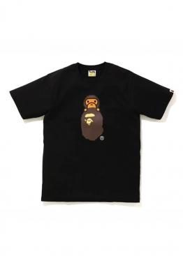 Чёрная футболка Bape Family Bag Milo On Apehead T-Shirt Black - FA1123