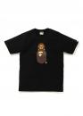 Купить чёрную футболку Bape Family Bag Milo On Apehead T-Shirt Black в Киеве с доставкой по Украине