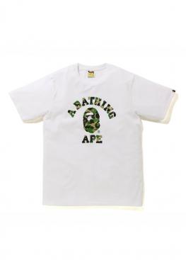 Белая футболка Bape Family Bag ABC Camo T-Shirt White - FA1124