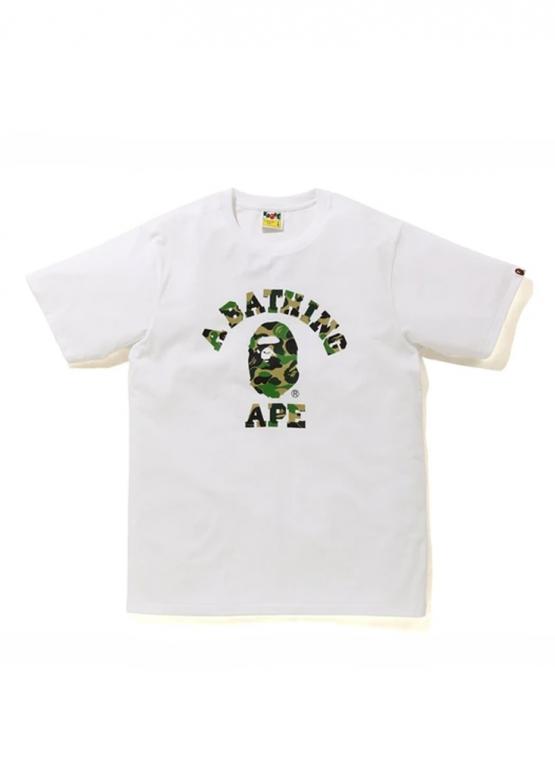 Купить белую футболку Bape Family Bag ABC Camo T-Shirt White в Киеве с доставкой по Украине
