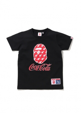 Чёрная футболка Bape Coca Cola Tee Ladies - FA1128