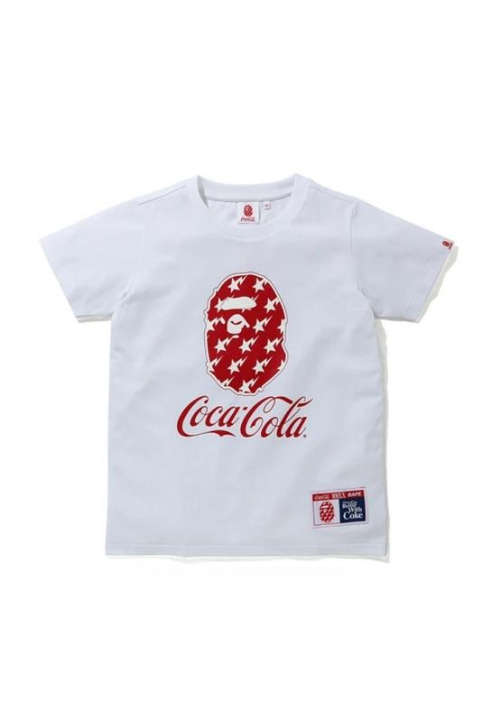 Купить чёрную футболку Bape Coca Cola Tee Ladies в Киеве с доставкой по Украине
