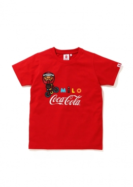 Красная футболка Bape Coca Cola Milo BMX Tee Ladies - FA1129