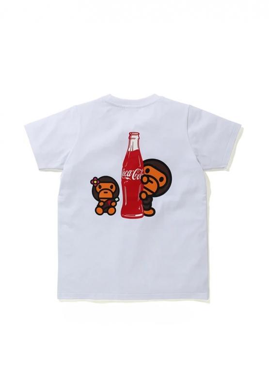 Купить красную футболку Bape Coca Cola Milo BMX Tee Ladies в Киеве с доставкой по Украине