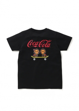 Чёрная футболка Bape Coca Cola Milo Skateboarding Tee Ladies - FA1130