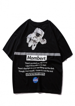 Чёрная футболка Mombert NASA Reflective - FB1111