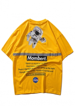 Жёлтая футболка Mombert NASA Reflective - FB1112