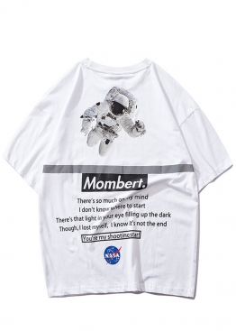 Белая футболка Mombert NASA Reflective - FB1113