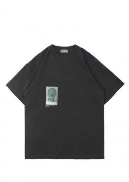"""Серая футболка """"А"""" - FB1122"""
