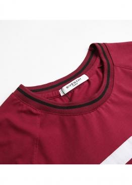 Бордовая футболка Givenchy - FE1113