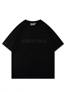 Футболка Fear Of God Essentials чёрная - FE1118