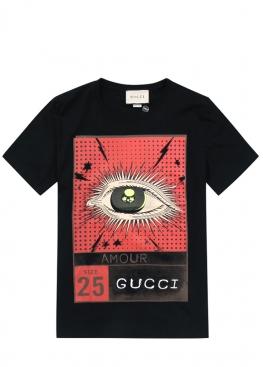 Чёрная футболка Gucci - FG1112