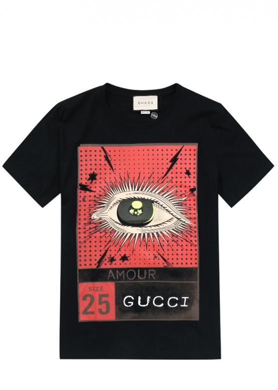 Купить чёрную футболку Gucci купить в Киеве с доставкой по Украине