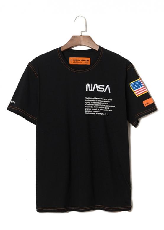 Купить чёрную футболку NASA x Heron Preston в Киеве с доставкой по Украине