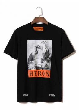 Чёрная футболка Стиль Heron Preston - FI1114
