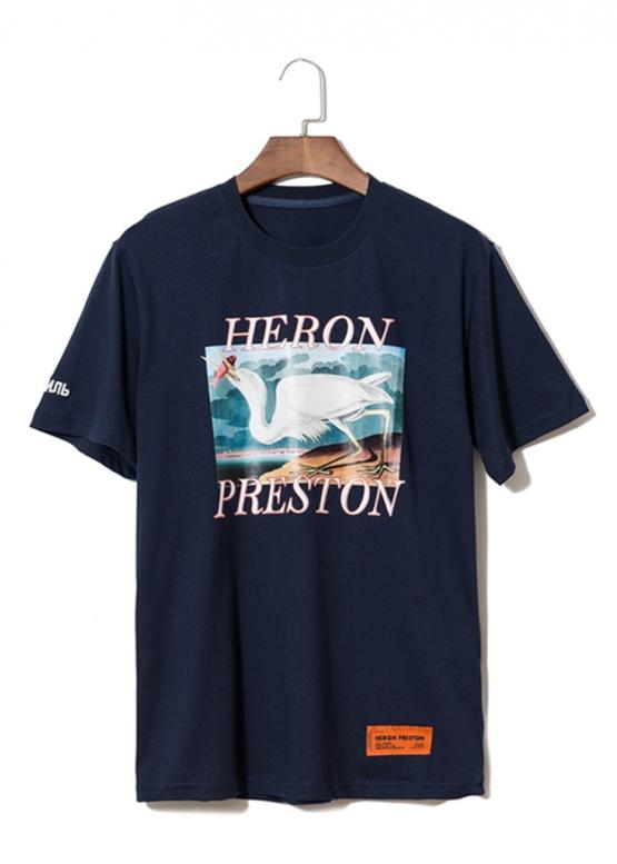 Купить синюю футболку Heron Preston в Киеве с доставкой по Украине