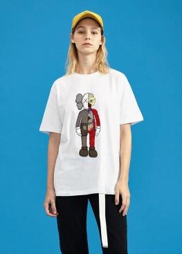 Белая футболка Kaws - FK1111