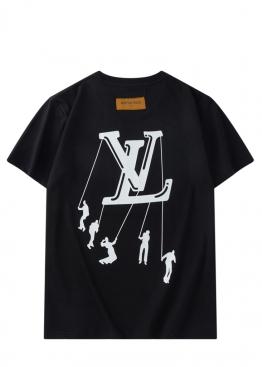 Чёрная футболка Louis Vuitton - FL1111