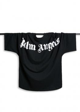 Чёрная футболка Palm Angels - FM1111