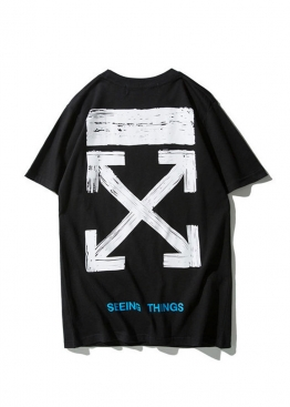 Чёрная футболка Off-white - FO1115