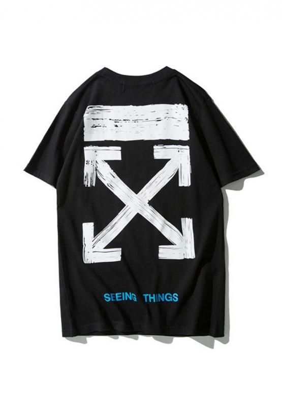 Купить чёрную футболку Off-white в Киеве с доставкой по Украине