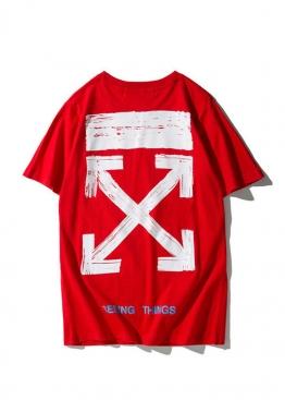 Красная футболка Off-white - FO1117