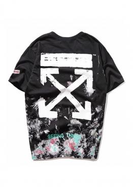 Чёрная футболка Off-white - FO1121