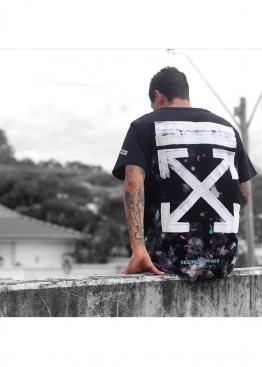 Чёрная футболка Off-white Art Chaos - FO1121