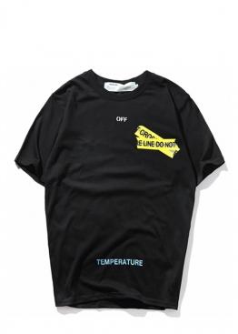 Чёрная футболка Off-white Not Cross - FO1122