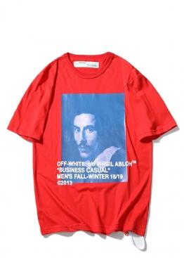 Красная футболка Off-white - FO1127
