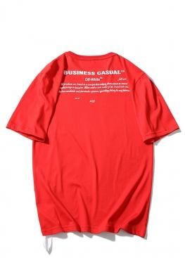 Красная футболка  Off-white Bernini- FO1127