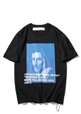 Чёрная футболка Off-white - FO1128