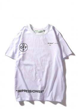 Белая футболка Off-white Impressionism - FO1132