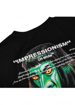 Чёрная футболка Off-white Impressionism- FO1135