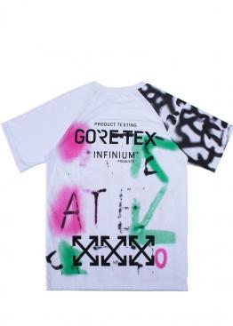 Белая футболка Off-white x Goretex - FO1139
