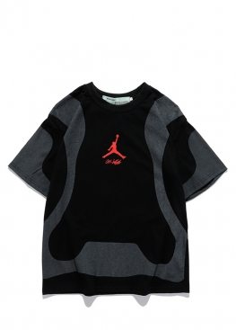 Чёрная футболка Off-white x Jordan - FO1140