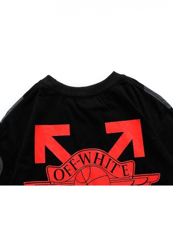 Купить чёрную футболку Off-white x Jordan в Киеве с доставкой по Украине