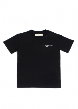 Чёрная футболка Off-white - FO1142