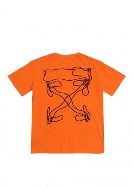 Оранжевая футболка Off-white 2020 - FO1143