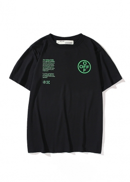 Чёрная футболка Off-white с принтом Golden Ratio - FO1144