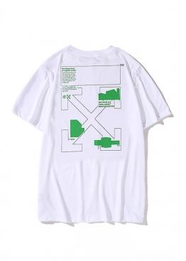 Белая футболка Off-white с принтом Golden Ratio - FO1145